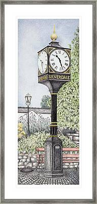 Millennium Clock Framed Print by Sandra Moore