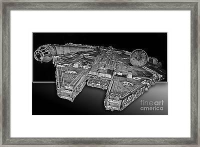 Millennium Falcon Attack Framed Print