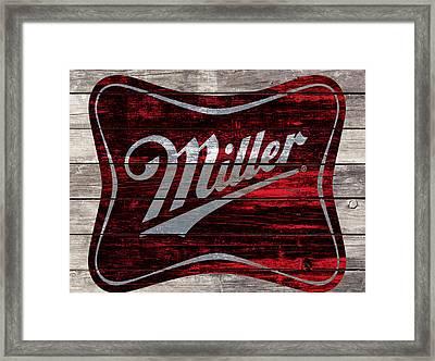 Miller Beer Framed Print