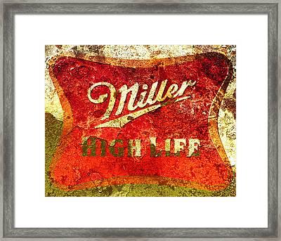 Miller High Life Framed Print