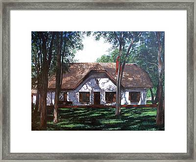 Framed Print featuring the painting Miller Homestead by Tom Roderick