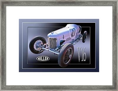 Miller V16 Framed Print