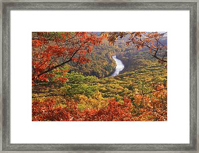 Millers River Valley Autumn Framed Print by John Burk