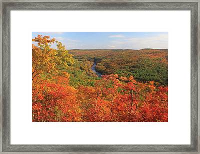 Millers River Valley In Autumn Framed Print by John Burk