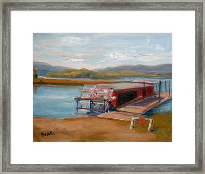 Millersburg Ferry Framed Print by Kathy Busillo