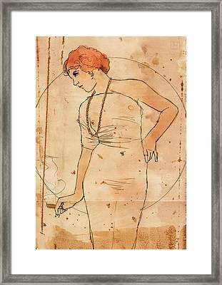 Millie And Her Cigar Framed Print by H James Hoff