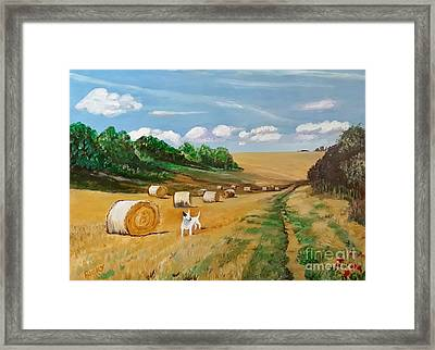 Millie's Day Out - Painting  Framed Print