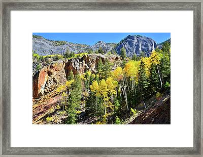 Framed Print featuring the photograph Million Dollar Highway 550 by Ray Mathis