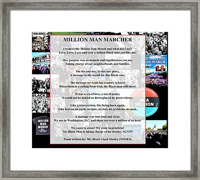Million Man Marcher By Moses Framed Print