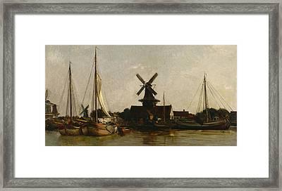 Mills At Dordrecht Framed Print