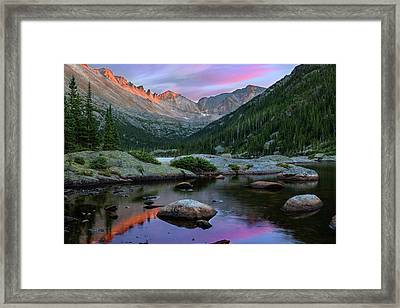 Mills Lake And The Keyboard Of The Winds By Thomas Schoeller Framed Print