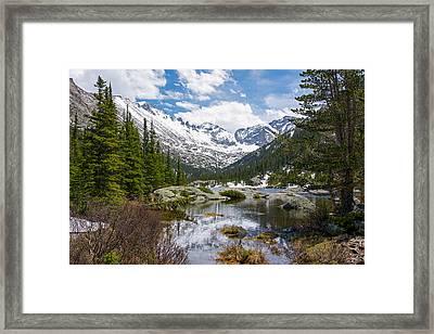 Mills Lake - Rocky Mountain National Park Framed Print
