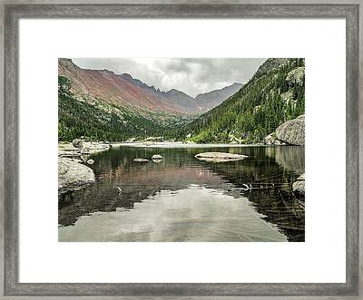 Mill's Lake View Framed Print