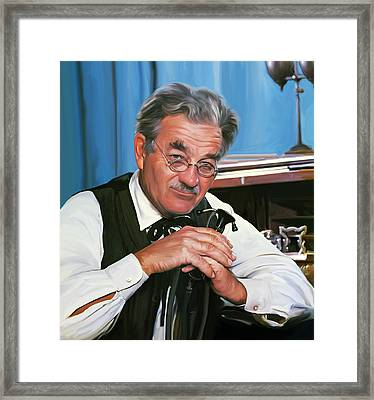 Milly Doc Stone Framed Print by Greg Joens