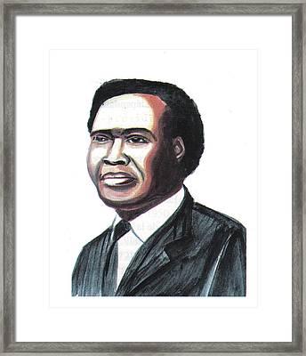 Milton Apolo Obote Framed Print
