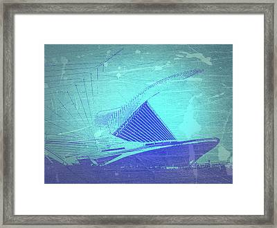 Milwaukee Art Museum Framed Print by Naxart Studio