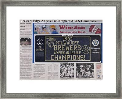 Milwaukee Brewers 1982 Al Pennant Framed Print by Marc Yench