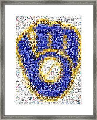 Milwaukee Brewers Mosaic Framed Print