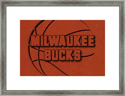 Milwaukee Bucks Leather Art Framed Print