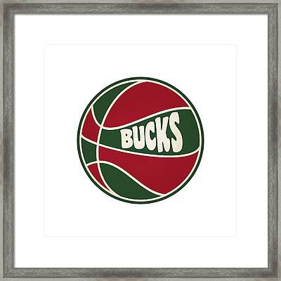 Milwaukee Bucks Retro Shirt Framed Print by Joe Hamilton