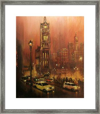 Milwaukee City Hall Framed Print by Tom Shropshire