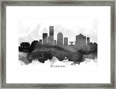 Milwaukee Cityscape 11 Framed Print by Aged Pixel
