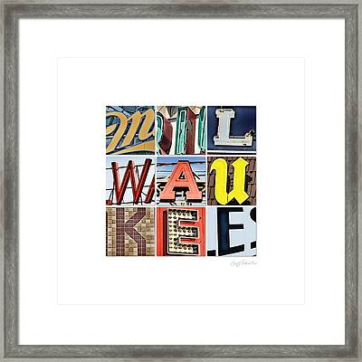 Milwaukee Framed Print by Geoff Strehlow