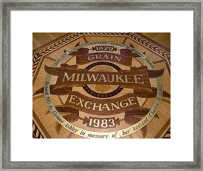 Milwaukee Grain Exchange Framed Print