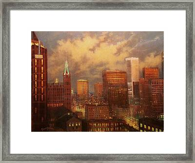 Milwaukee My Hometown Framed Print by Tom Shropshire
