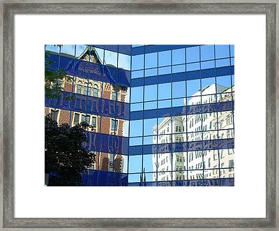 Milwaukee Past Present And Future Framed Print