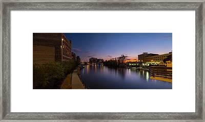 Milwaukee Riverwalk Framed Print by Steve Gadomski