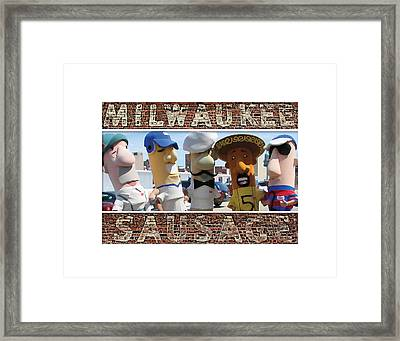 Milwaukee Sausages Framed Print by Geoff Strehlow