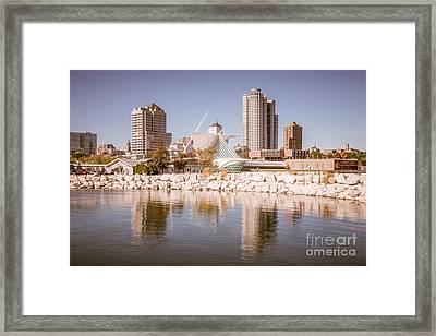 Milwaukee Skyline Picture Framed Print by Paul Velgos