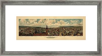 Milwaukee Wisconsin 1898 Framed Print