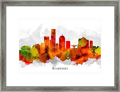 Milwaukee Wisconsin Cityscape 15 Framed Print by Aged Pixel