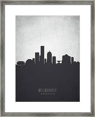 Milwaukee Wisconsin Cityscape 19 Framed Print by Aged Pixel