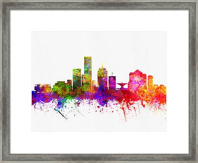 Milwaukee Wisconsin Skyline Color02 Framed Print by Aged Pixel