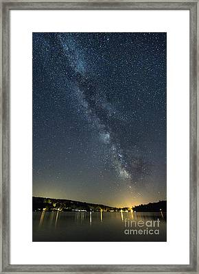 Milky Way From A Pontoon Boat Framed Print