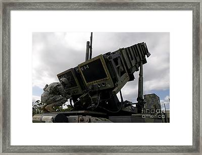 Mim-104 Patriot Missile Launcher Framed Print