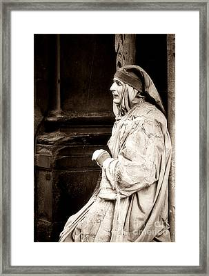 Mime In Florence Framed Print by Emilio Lovisa