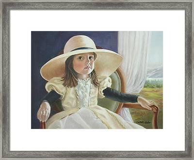 Mimi's Hat Framed Print by JoAnne Castelli-Castor
