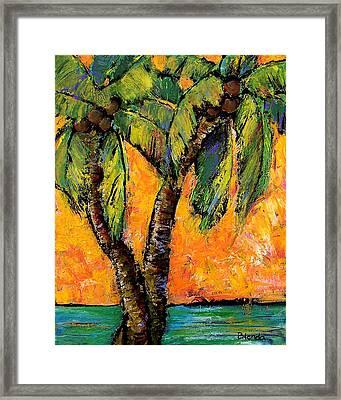 Mimosa Sky Palm Framed Print by Blenda Studio