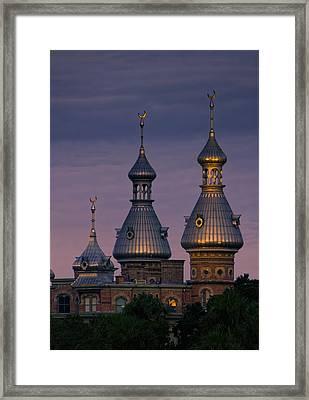 Minarets At Sunset - Henry B. Plant Museum Framed Print