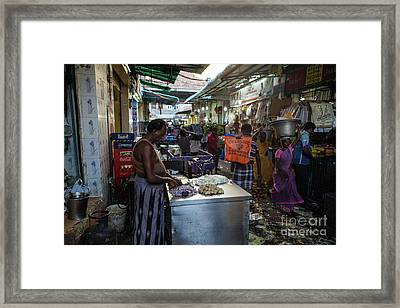 Framed Print featuring the photograph Mincing Garlic by Mike Reid