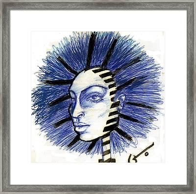 Mind Blowing Framed Print by Agatha Green
