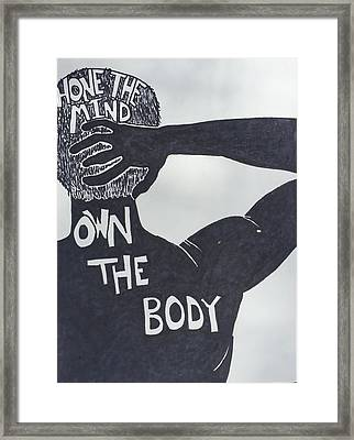 Mind/body Framed Print by Sara Young