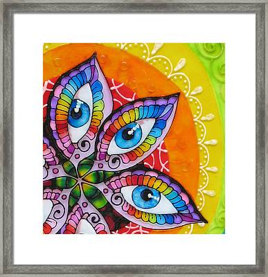 Mind Eyes - Detail Framed Print by Gabriela Stavar