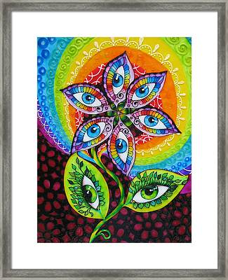 Mind Eyes Framed Print by Gabriela Stavar