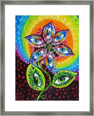 Mind Eyes Framed Print by Gabriela Stavar