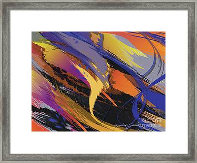 Mind Speed Framed Print